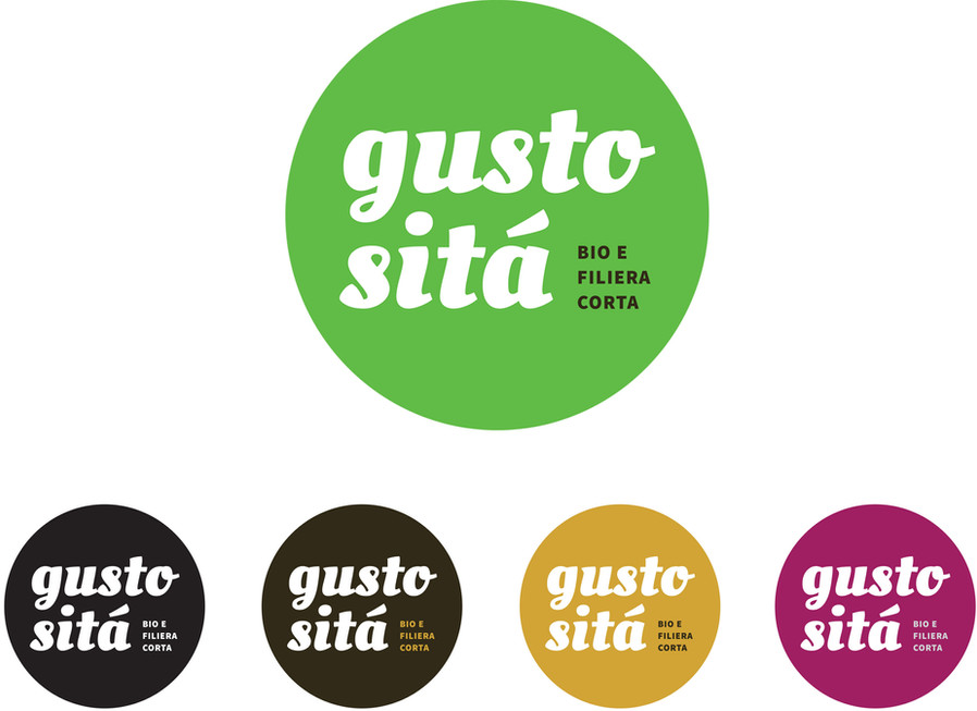Logotype in different colours