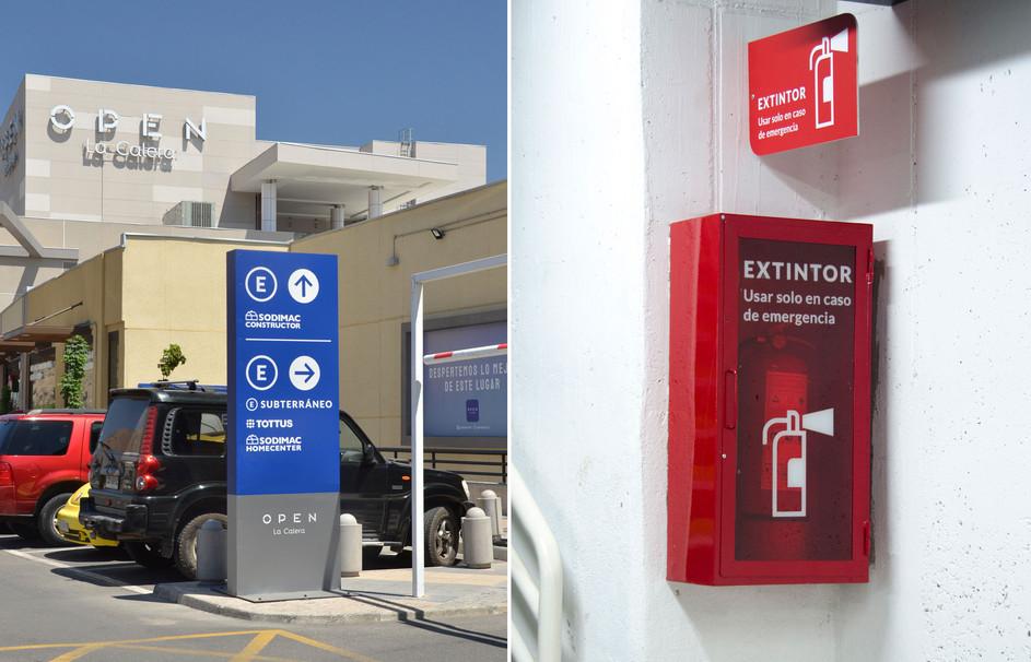 Totem and emergency signage