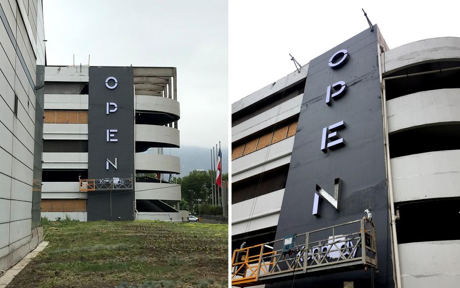 Facade sign installation