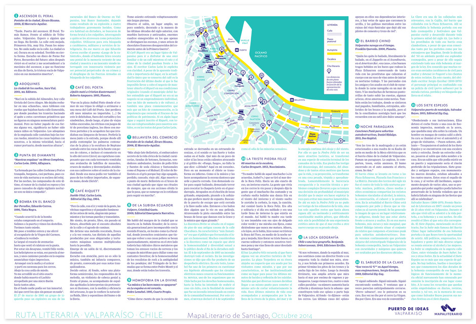Brochure with quotes and map