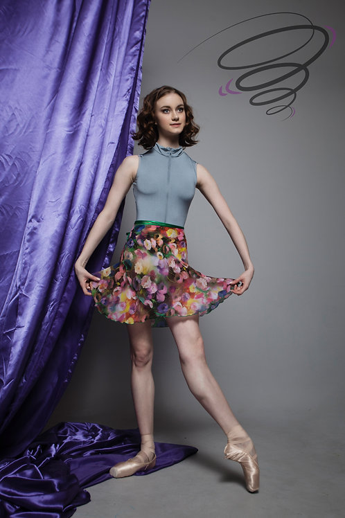 Юбка цветная (тюльпаны) С-11