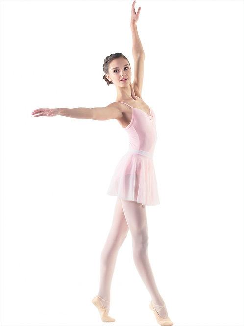 Юбка-солнце из мелкой сеточки для танцев. Розовая