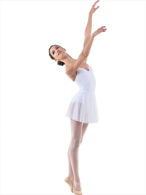 Юбка-солнце из мелкой сеточки для танцев. Белая