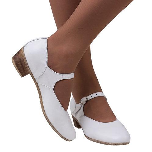 Туфли для народно-характерного танца белые