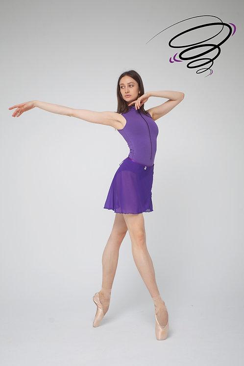Юбка однотонная - Фиолетовая