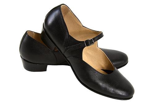 Туфли для народно-характерного танца черные