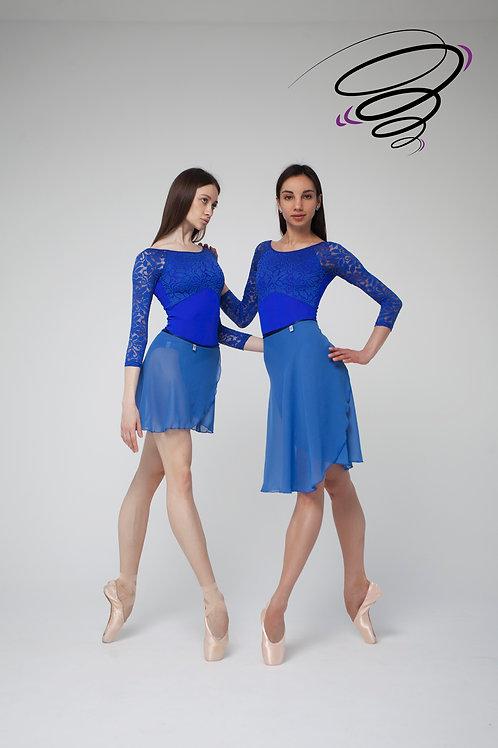 Юбка однотонная - Синяя