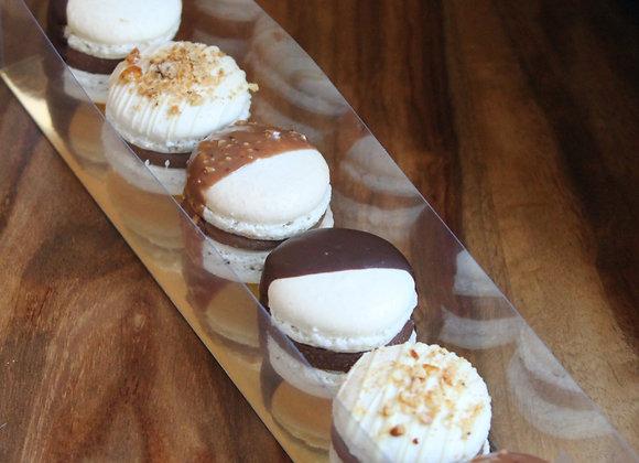 Les Macarons de Pâques : Chocolat Noir Amère, Chocolat Rocher, Chocolat Pralin