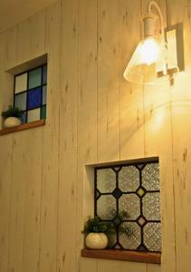 風水ステンドグラスの小窓 コンテンポラリー風水フジワラユカ