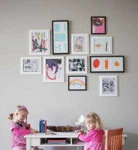 【子育て風水】お子さんの作品は場所を決めて飾る