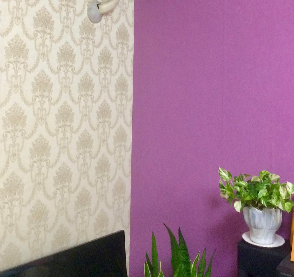 ピンクの壁紙風水効果 コンテンポラリー風水フジワラユカ