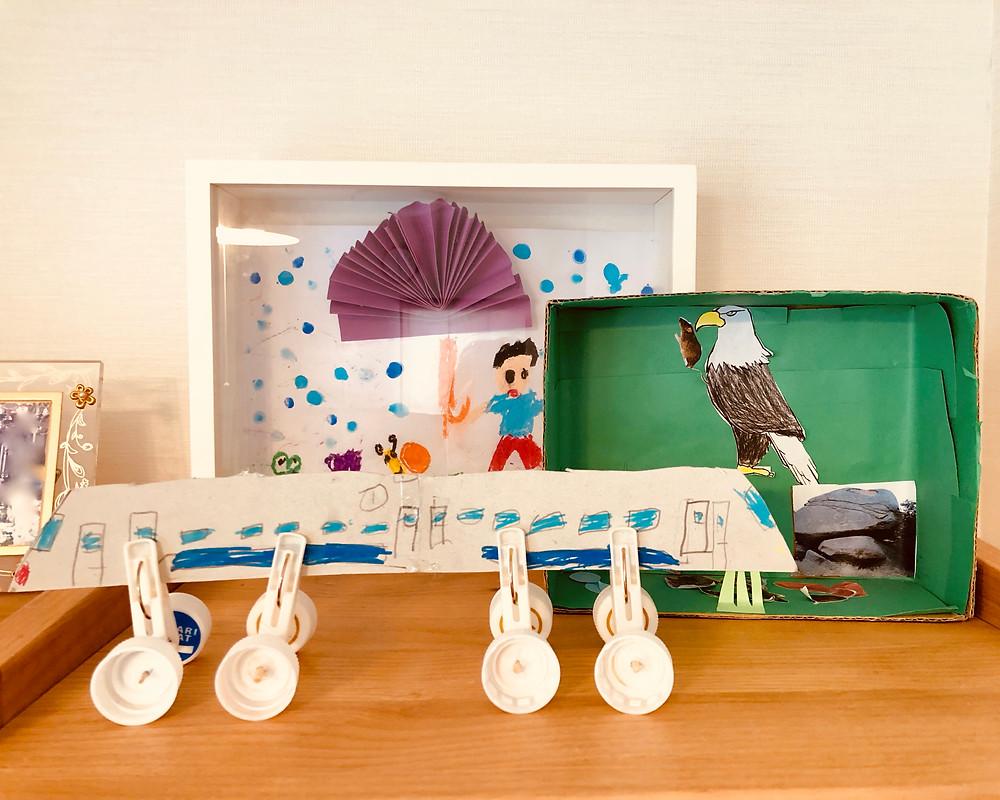 コンテンポラリー風水インテリアフジワラユカ  子育て風水 子供の作品の飾り方風水