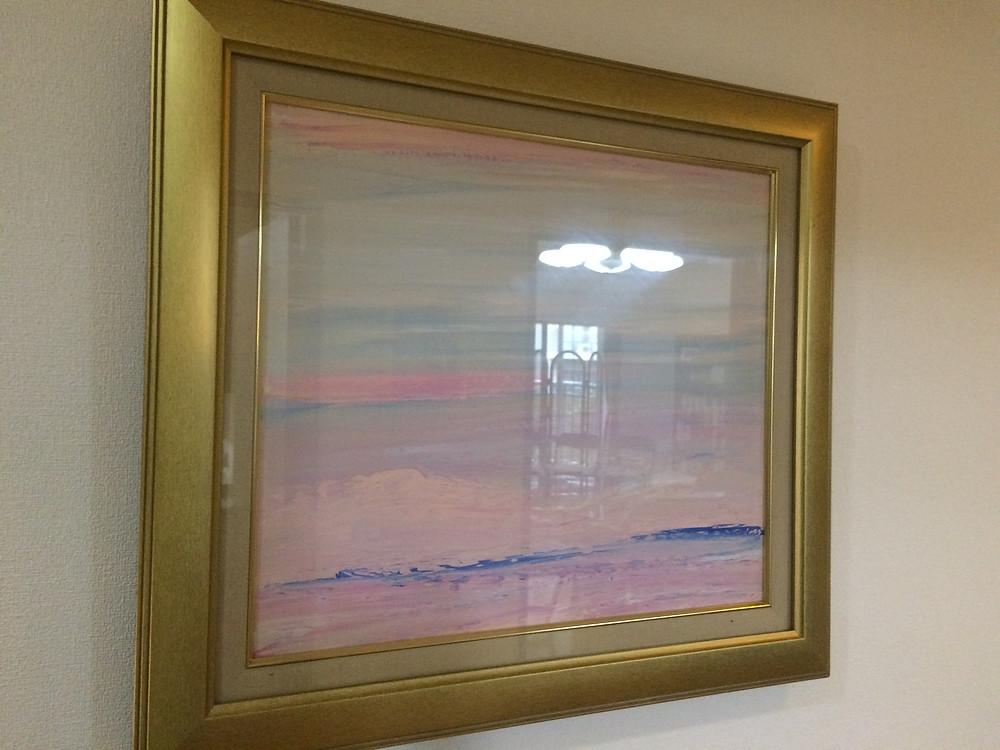 風水アート「道」のエリア 風水アート玄関に空の絵