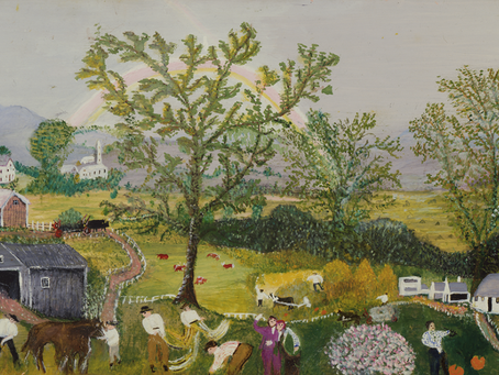【風水】美しき世界・画家グランマ・モーゼスが100歳最期に描いた作品「虹」✨