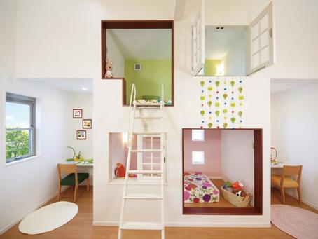 【子育て風水】1つの子ども部屋に2つのプライベートスペースをつくる好事例✨