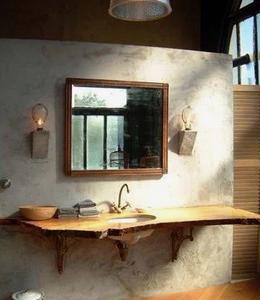 大きな鏡の洗面風水 コンテンポラリー風水フジワラユカ