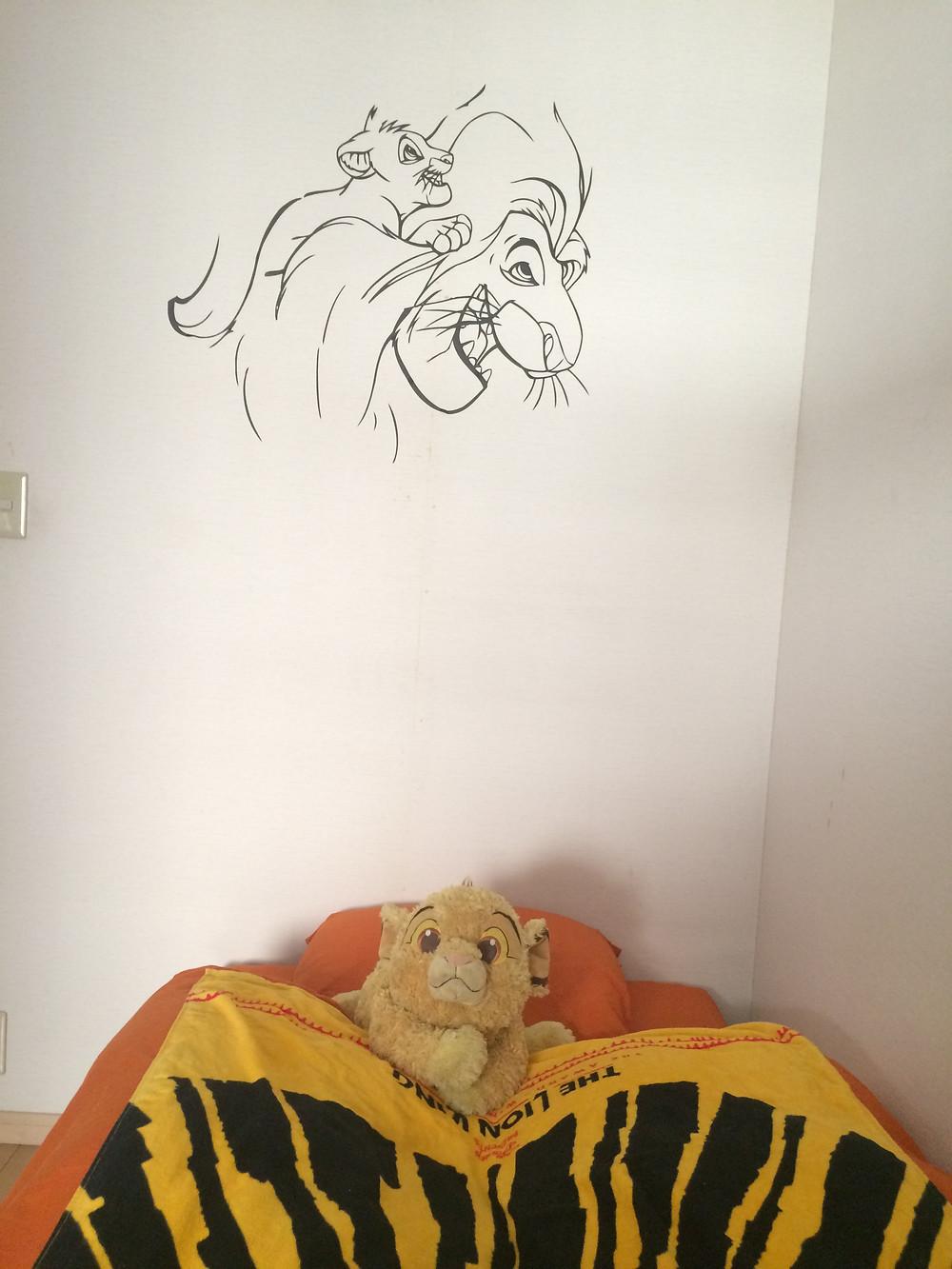 男の子のお部屋の風水 ライオンキングのお部屋