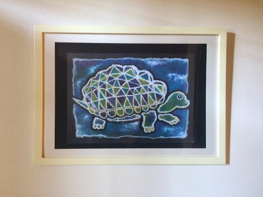 風水インテリア「道を切り開く」風水アートカメのアート
