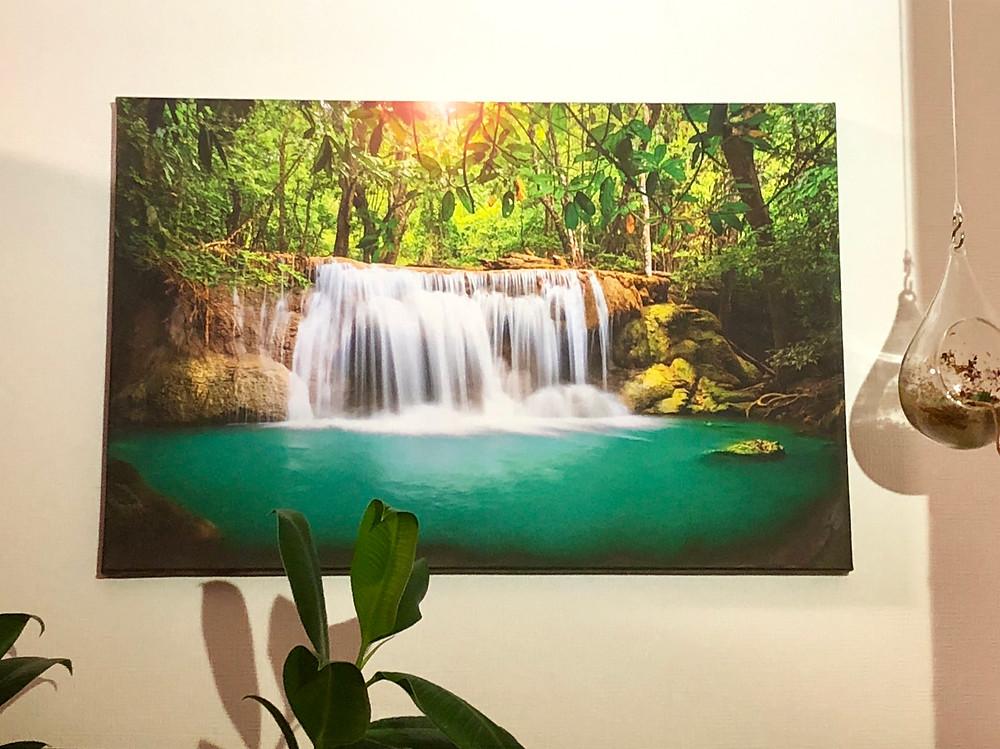 風水アート 財運を高める風水 滝のアート コンテンポラリー風水