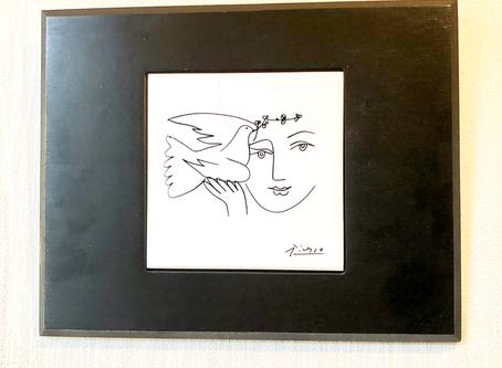 【風水】実家の玄関に飾っているピカソの「平和の顔」✨