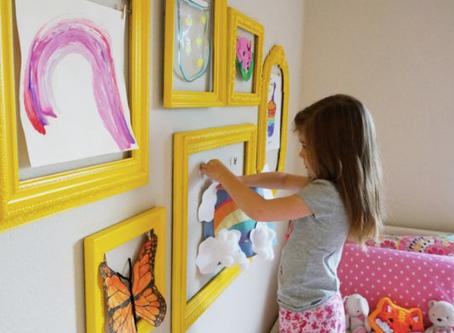 【風水】子ども部屋に自分のアートスペースをつくる素敵なアイデア✨
