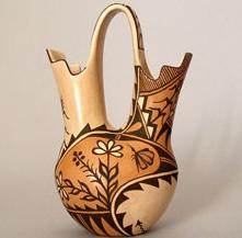 ナバホ族ネイティブアメリカン結婚花瓶 Weddingvace コンテンポラリー風水フジワラユカ 愛情風水