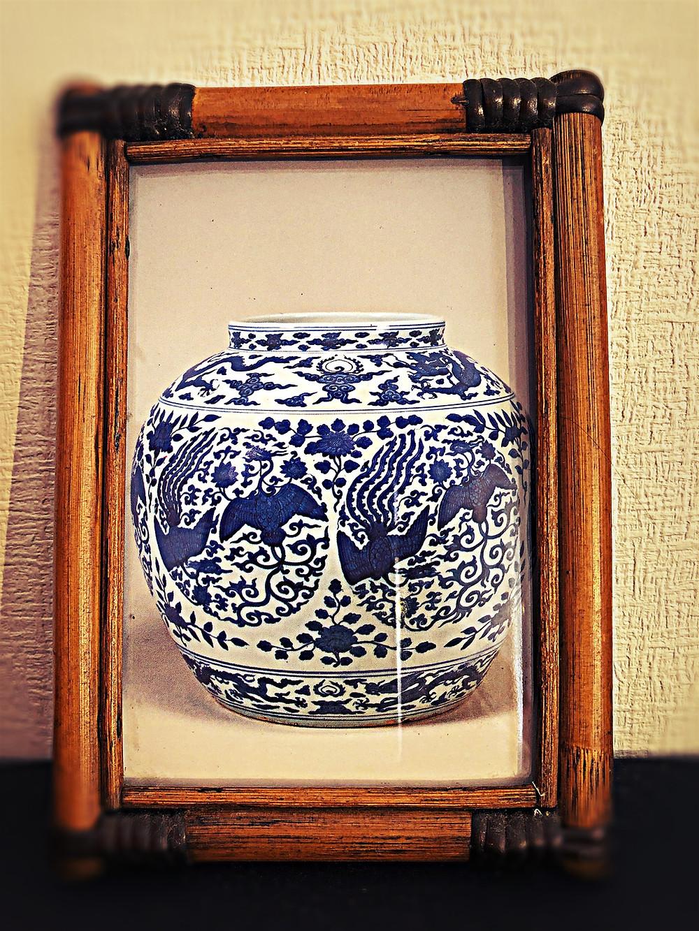 伊万里焼ブルー風水アート財運コンテンポラリー風水フジワラユカ