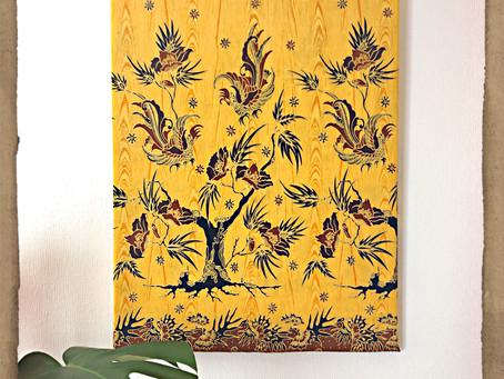 【プチプラ風水術】DIYで布のパネルをバグアに合わせて飾ってみた✨