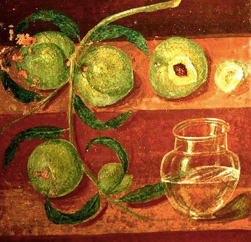 風水果物のアート ポンペイフレスコ画 コンテンポラリー風水フジワラユカ