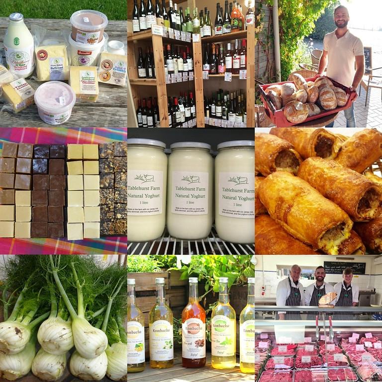 Summer market at the Farm Shop