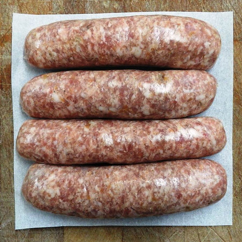 Chestnut and apricot butcher's sausages - pack of 4