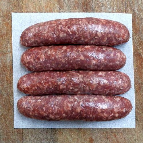 Boerewors butcher's sausages - pack of 4
