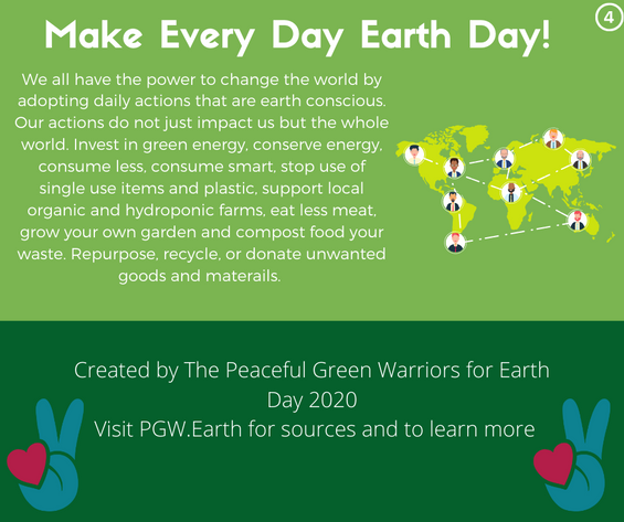 Care for Earth 4. Save & Share