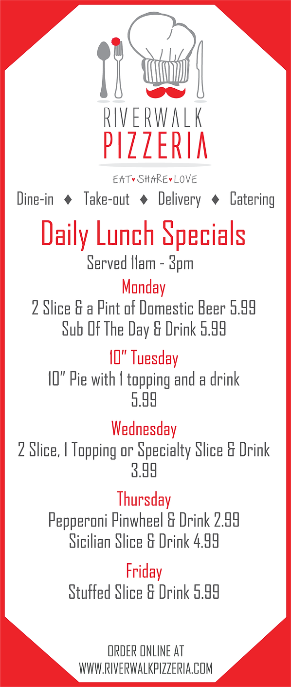 Pizza Lunch Specials