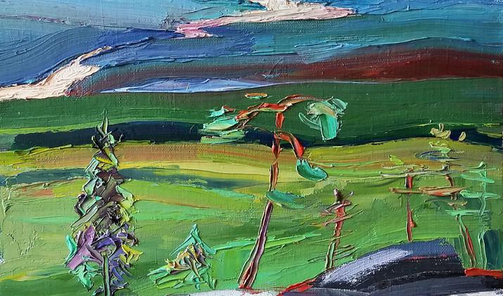 Vuoret 2019 20-20 cm oil canvas