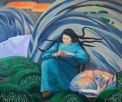 Girl of Vottovaara 2017 acrylic-canvas 100-120cm