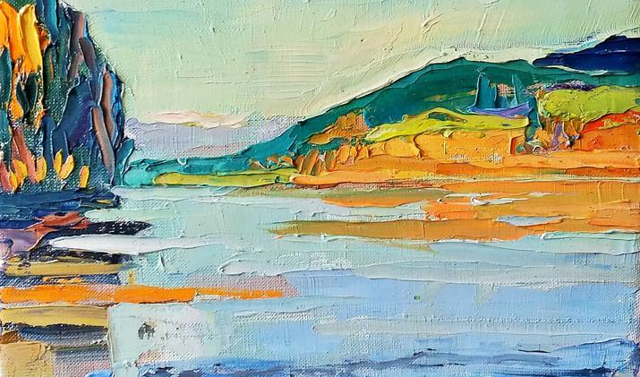 Distant shore 2019 30-30 cm oil canvas