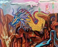 Ancient Guardian 2018 acrylic-canvas 80-100cm