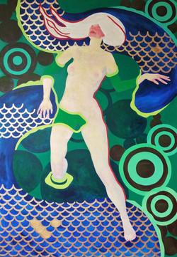 Spherulites 2019 acrylic-canvas 130-90cm