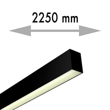 LIGNE CONTINUE 2250x53,8x80mm APPLIQUE SUSPENSION LINEA CLASSIC MILIEU -LIC225-M