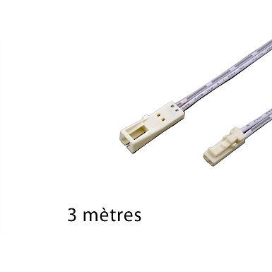 PROLONGATEUR 24V 3M AVEC CONNECTEURS  MALE/ FEMELLE BLANCS - 24FMBM3000