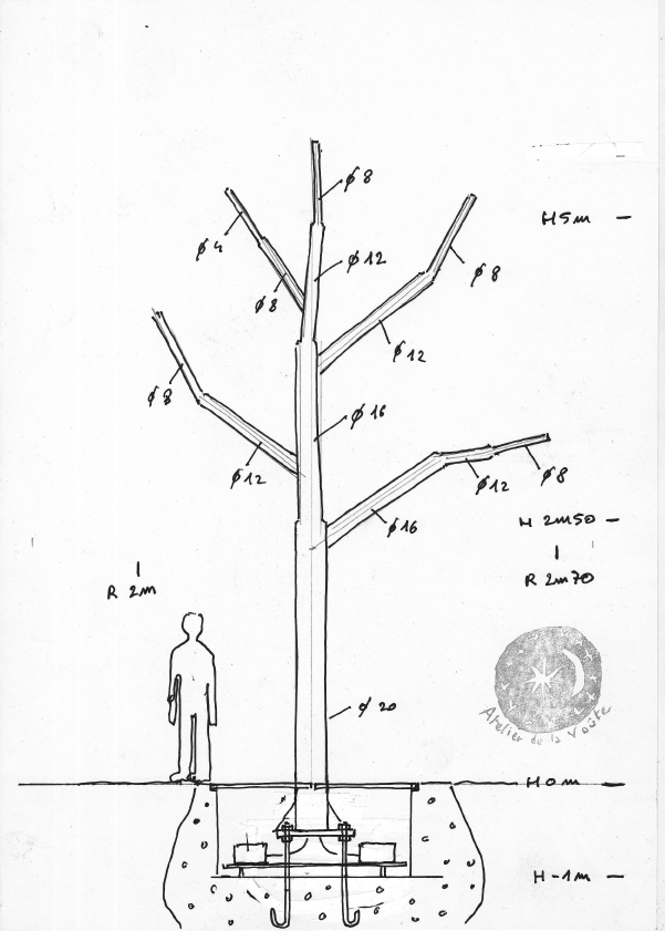 arbre lumineux construction