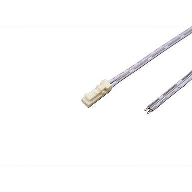 CONNECTEUR 24V MALE BLANC AVEC CÂBLE 1M - 24MBM1000