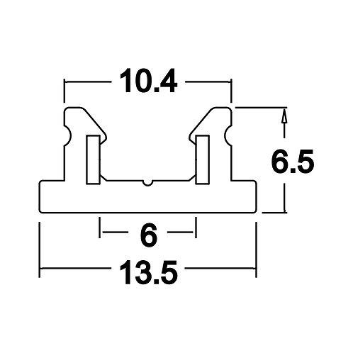 MINI RAIL D'ÉCLAIRAGE 13,5 x 6,5 longueur 1000mm TOBI SYSTEM - TORE