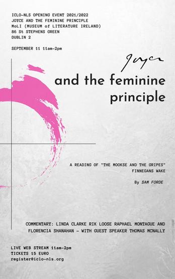 "ICLO-NLS INAUGURAL EVENT                  ""Joyce and the Feminine Principle"" 11th September"