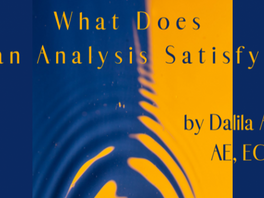What Does an Analysis Satisfy? Testimony by Dalila Arpin (AS)