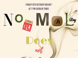 Normality Does Not Exist -Teachings of the AS with Dossia Avdelidi Friday 8th October
