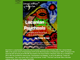 Lacanian Psychosis. How to speak of the clinical work we do as psychoanalysts