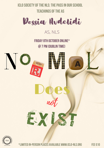 Normal Does Not Exist -Teachings of the AS with Dossia Avdelidi Friday 8th October
