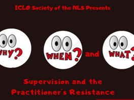 """""""Why, When and What: Supervision and the Practitioner's Resistance"""""""